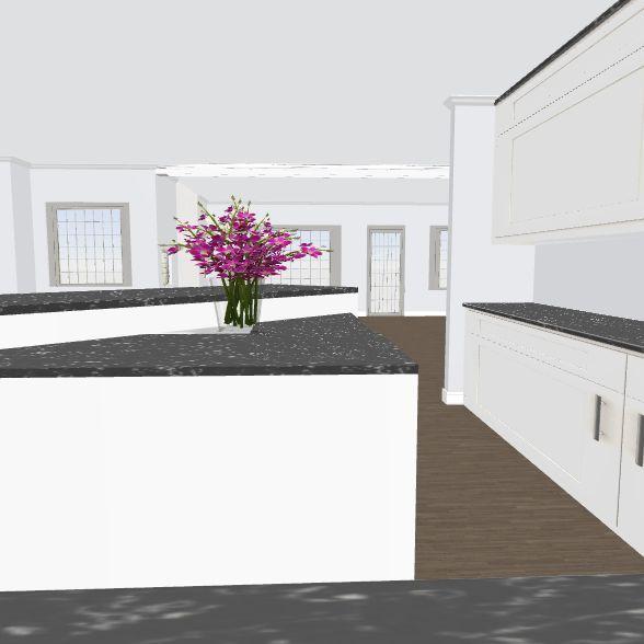 moniques' kitchen 11 stairs addt w/existing bkgd Interior Design Render