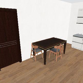 2 bed 2 bath appt  Interior Design Render