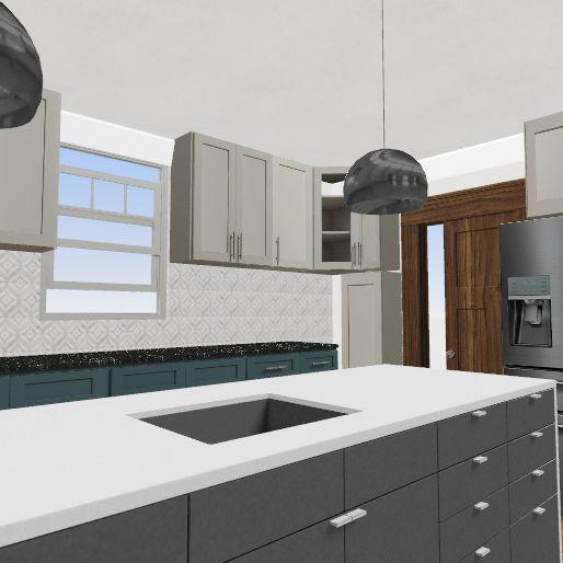 Kitchen w/Sunroom Breakfast/Den  Interior Design Render