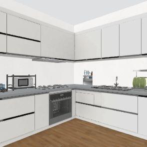 Kitchen Drawing Interior Design Render