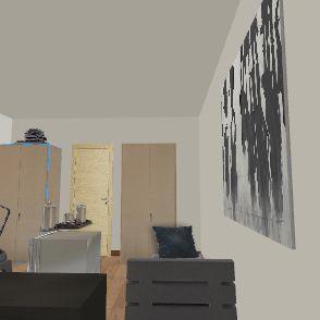 parter z tarasem Interior Design Render