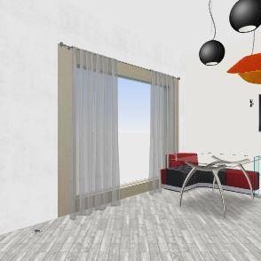 1 этаж - самый последний вариант бежевый Interior Design Render