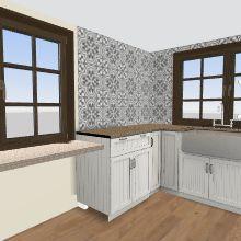 French Window Tiny Interior Design Render
