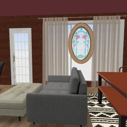 white oak living 2 Interior Design Render