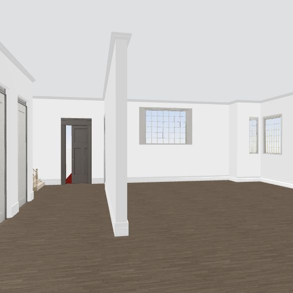 no kitch wall/stairs 6 addt w/existing bkgd Interior Design Render