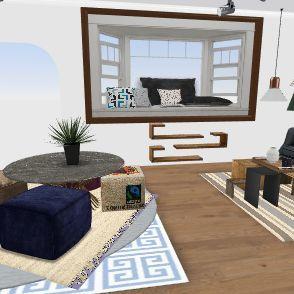 attic of newr house Interior Design Render