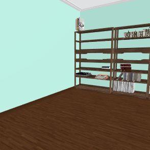 pared blanca  Interior Design Render