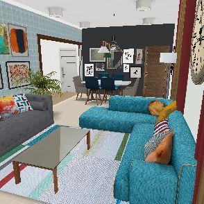living room final Interior Design Render