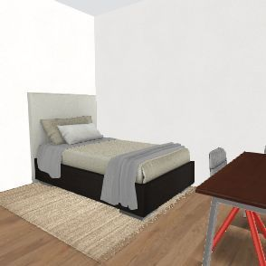 A student's room Interior Design Render