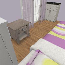 dhoma e gjumit Interior Design Render