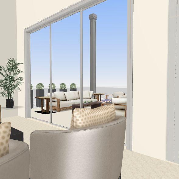 Casa Monteran  Sala Comedor Terraza Interior Design Render