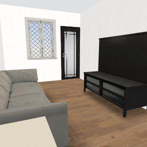 Draft 1 w Living Room Interior Design Render
