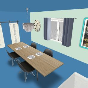 Anderson litty house dining room Interior Design Render