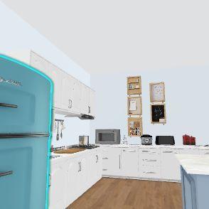 Sarah's Kitchen Interior Design Render