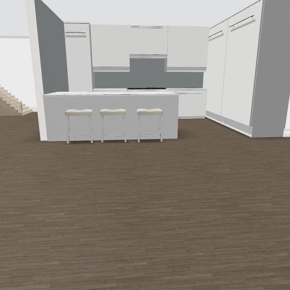 L 2 Kitchen not U w/existing bkgd Interior Design Render