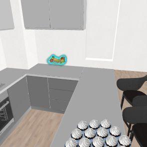 christmas new house Interior Design Render