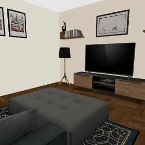 Simple Living Room Interior Design Render