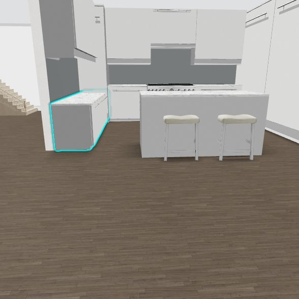 L 3 Kitchen not U w/existing bkgd Interior Design Render