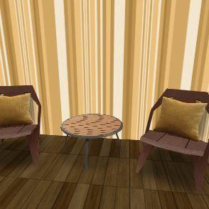 70s room Interior Design Render