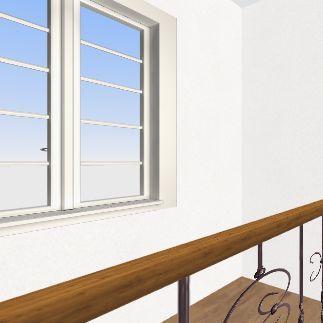 old house top floor Interior Design Render