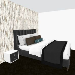master black and white Interior Design Render