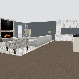 christmas day Interior Design Render