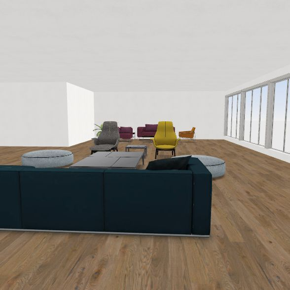 Living Room / Dining Room Interior Design Render
