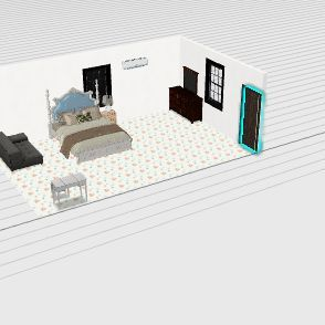 ห้องนอน ของ กล้วย Interior Design Render