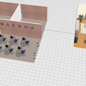 Sakura school Interior Design Render