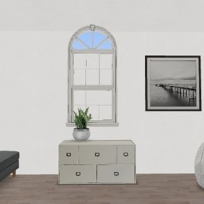 Bedroom and Living Room Interior Design Render