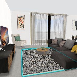 TV על יח' אחסון Interior Design Render