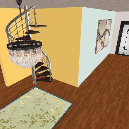Large Hillside Estate Interior Design Render
