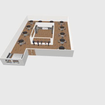 Restraunt Interior Design Render