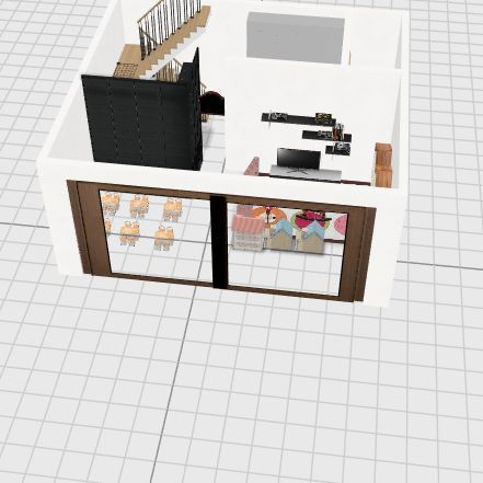 Donut&Bean Ehome S layout Interior Design Render