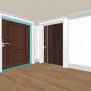 1. 20012-100 Small Bedroom. Interior Design Render