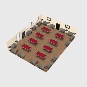 Pool Hall Interior Design Render