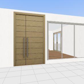 House w/ window hall Interior Design Render