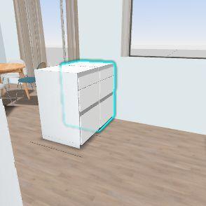Granatowa kuchnia v2 Interior Design Render