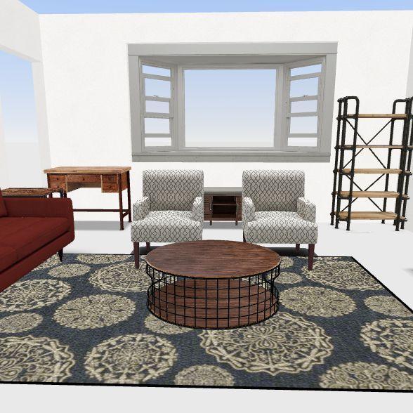 Front Living Room Interior Design Render