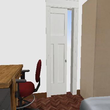 queen + armario + mesa Interior Design Render