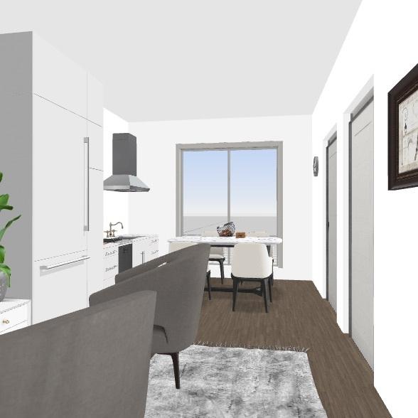 duże mieszkanie  Interior Design Render