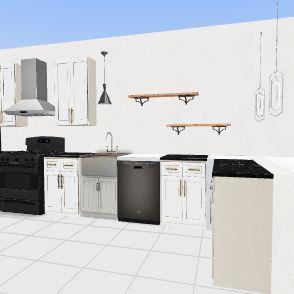 kitchen shelves Interior Design Render