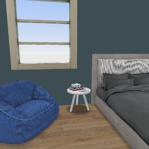 Sam's Bedroom Interior Design Render