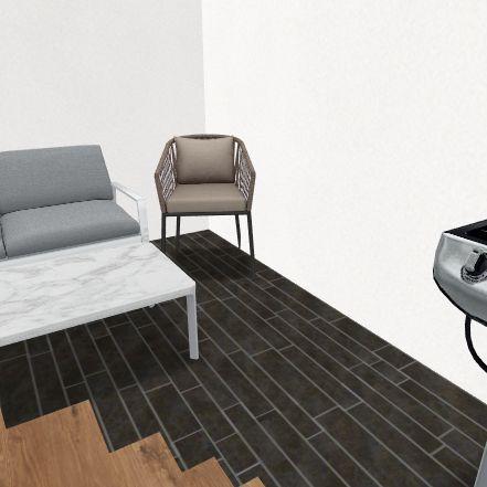 spain patio Interior Design Render