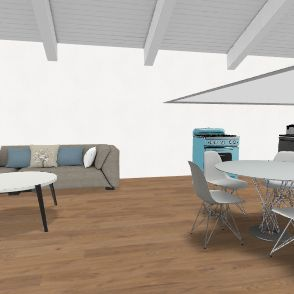 tiny house in greece Interior Design Render