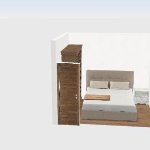 Bedroom 8M2 Interior Design Render