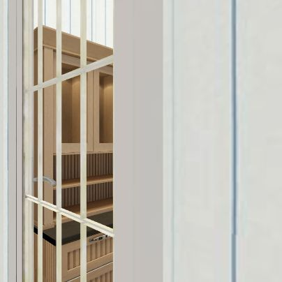 összenyitás Interior Design Render