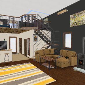 Shed House Interior Design Render