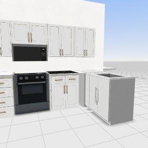 Basemant Kitchen Interior Design Render