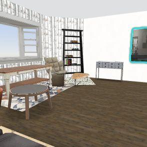 Clutter Home Interior Design Render